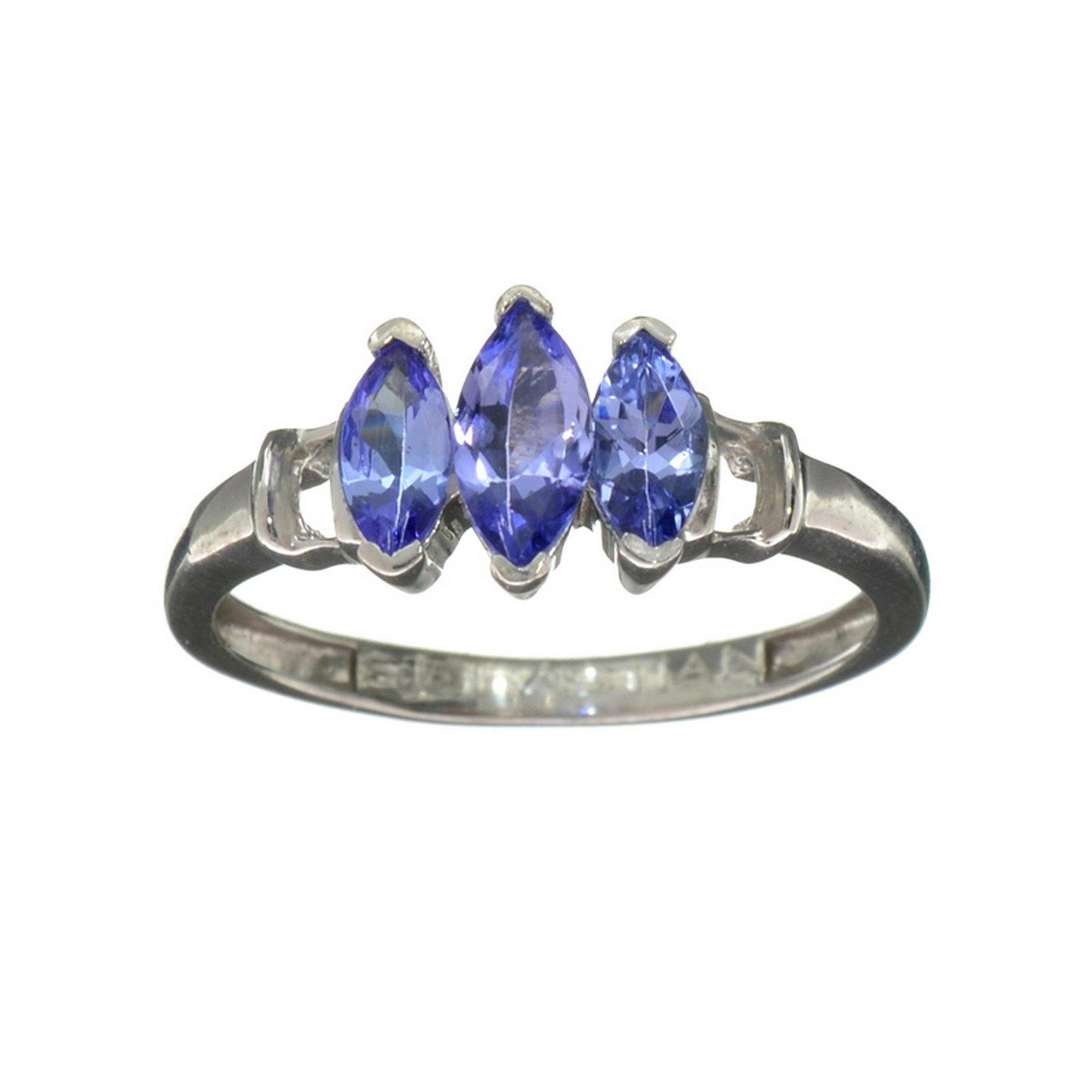 Fine Jewelry 1.10CT Marquise Cut Violet Blue Tanzanite