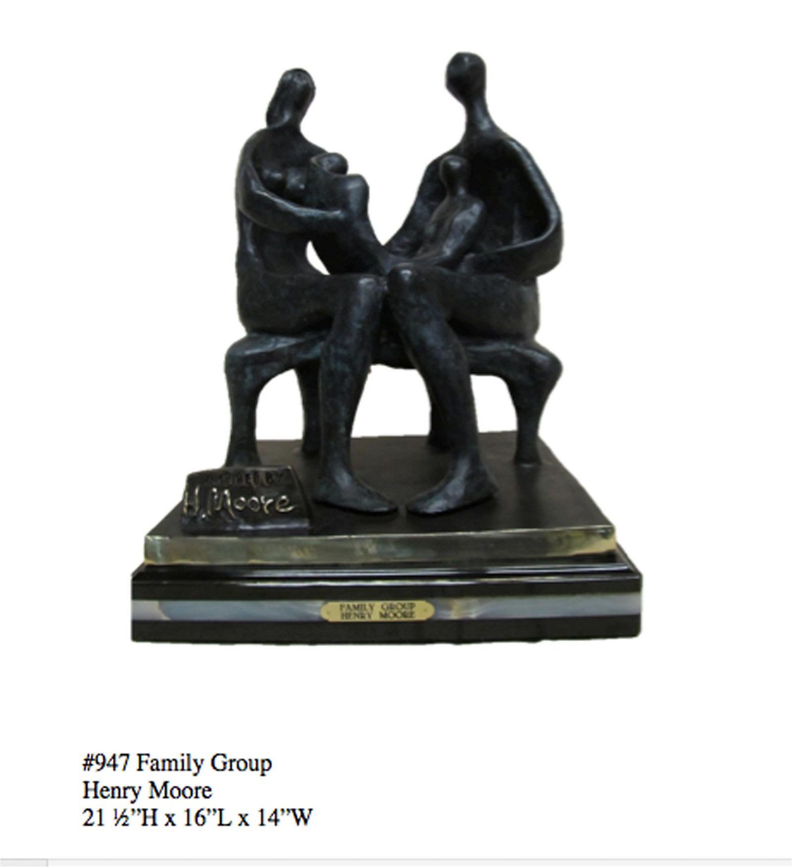 *Rare Limited Edition Numbered Bronze Henry Moore