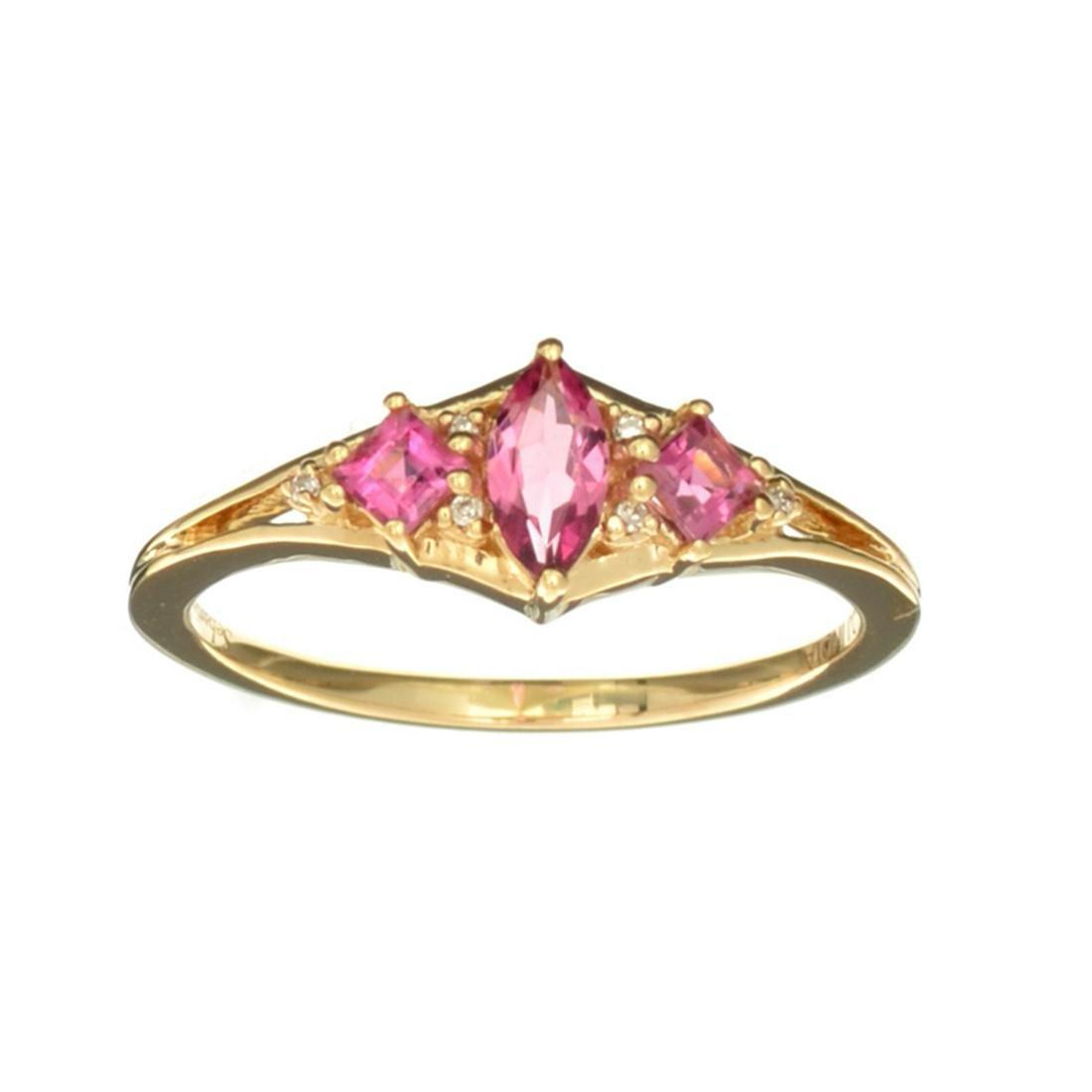 Designer Sebastian 14 KT Gold, Marquise Cut Tourmaline