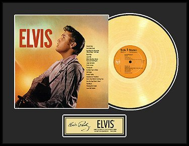 5334: ELVIS PRESLEY ''Elvis'' Gold Record, Collectable/