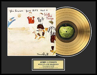 222: JOHN LENNON ''Walls and Bridges'' Gold Record