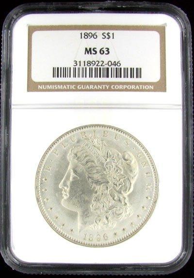 228: 1896 Morgan Type Silver Dollar Coin - Potential In