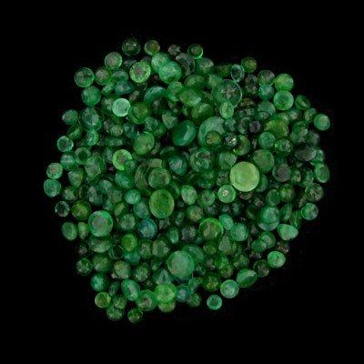 230: APP: $3.9k 48.32CT Faceted Round Cut Emerald Parce