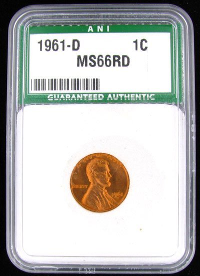 244: 1961-D Lincoln One Cent  Coin - Potential Investme