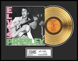 246: ELVIS PRESLEY ''Elvis Presley'' Gold Record, Colle
