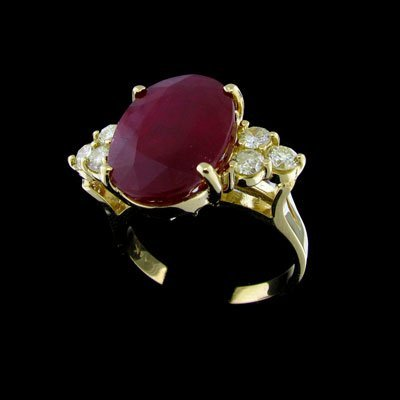 1514: APP: $38.7k 14 kt. Gold, 10.36CT Ruby and 0.68CT