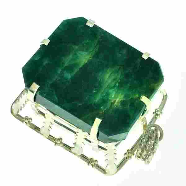 Fine Jewelry Designer Sebastian 340.29CT Emerald Cut