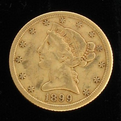 2012: 1899-S $5 Coronet Gold Coin - Investment Potentia