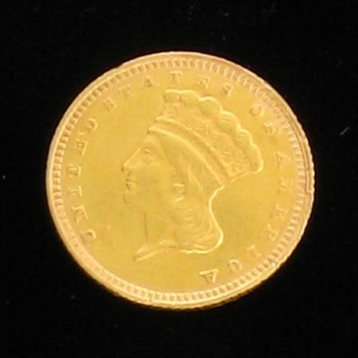 2038: 1862 $1.00 Indian Head Gold  Coin - Investment Po