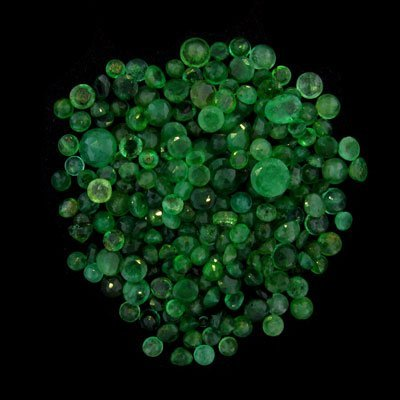 2301: APP: $2.8k 34.51CT Faceted Round Cut Emerald Parc