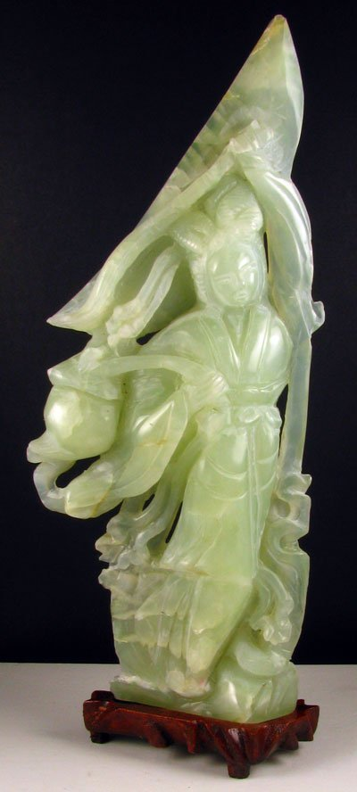 2315: Rare Jade Hand Carved - Translucent Green