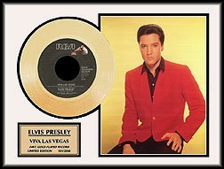 2321: ELVIS PRESLEY ''Viva Las Vegas'' Gold Record - Co