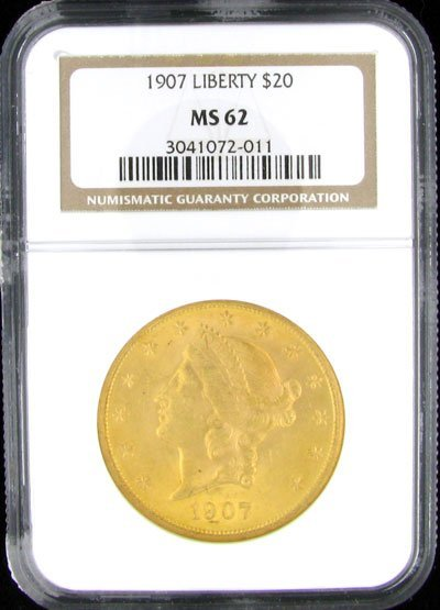 2337: 1907 $20 US Coronet Type Gold Coin - Investment P