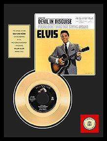 2341: ELVIS PRESLEY ''Devil in Disguise'' Gold Record -