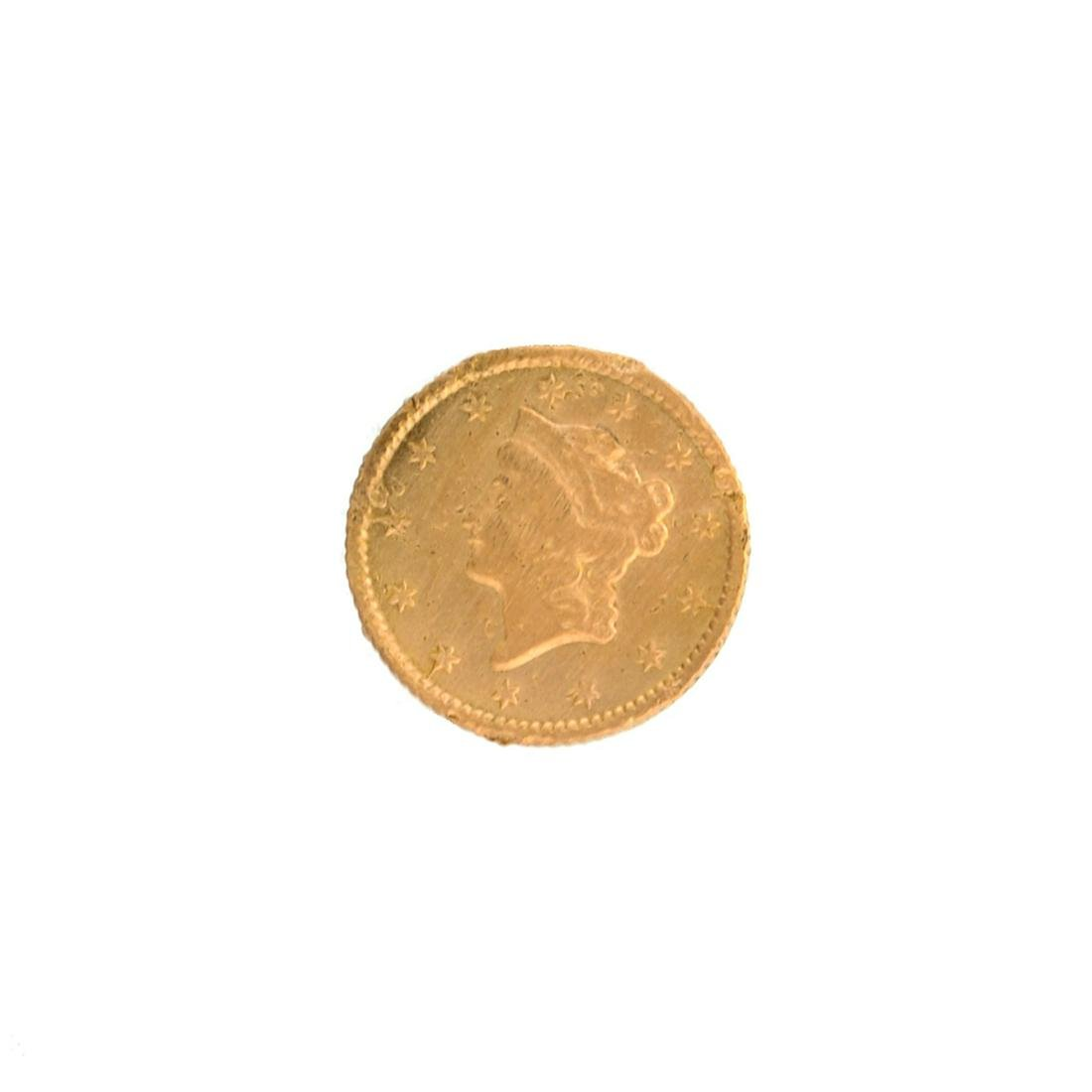 Extremely Rare 1853 $1 U.S. Liberty Head Gold Coin -
