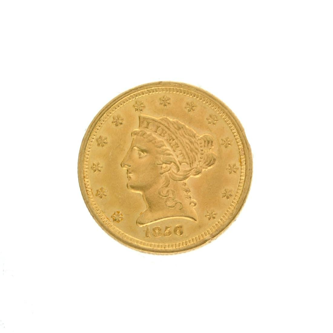 Extremely Rare 1856 $2.50 U.S. Liberty Head Gold Coin