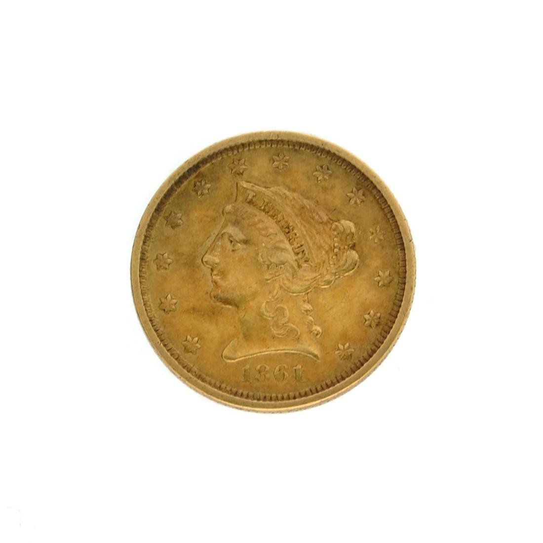 Extremely Rare 1861 $2.50 U.S. Liberty Head Gold Coin
