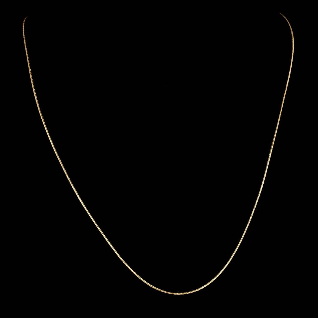 *Fine Jewelry 14 KT Gold, 1.9GR, 16'' Diamond Cut Satin