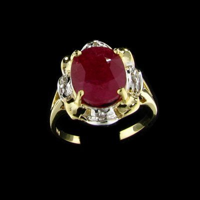 3: APP: $14.4k 14 kt. Gold, 5.22CT Ruby and 0.02CT Diam