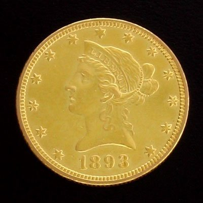 7: 1893 $10 US Coronet Type Gold  Coin - Investment Pot