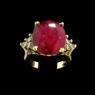 27: APP: $22.7k 14 kt. Gold, 8.31CT Ruby and 0.15CT Dia