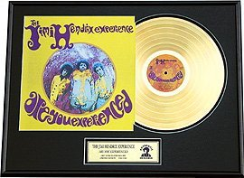 39: JIMI HENDRIX ''Are you Experienced'' Gold Record -
