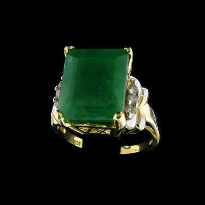 43: APP: $11.9k 14 kt. Gold, 6.45CT Emerald and 0.12CT
