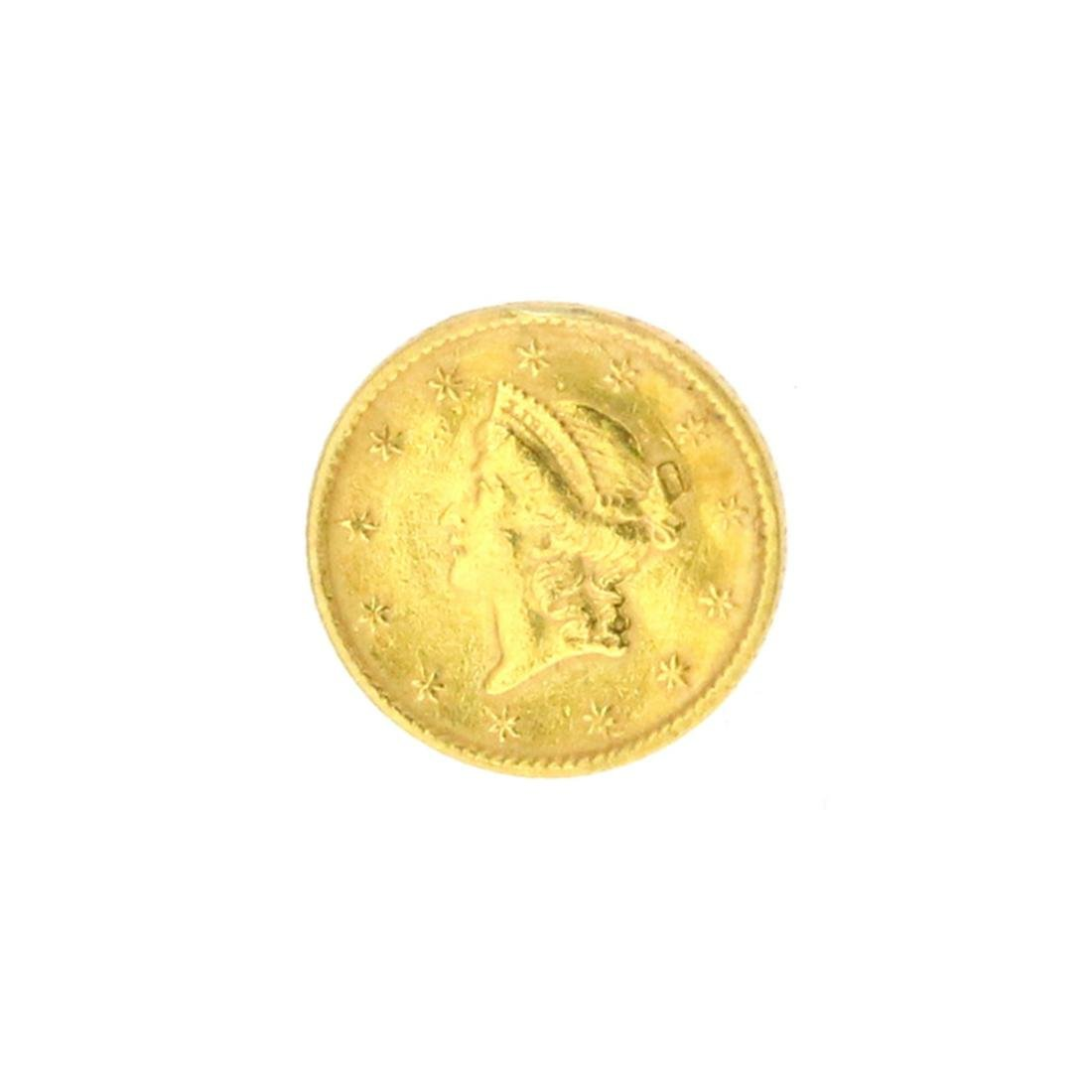 Extremely Rare 1853 $1 U.S. Liberty Head Gold Coin