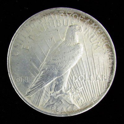 304: 1923 Peace Type Silver Dollar Coin-Investment Pote