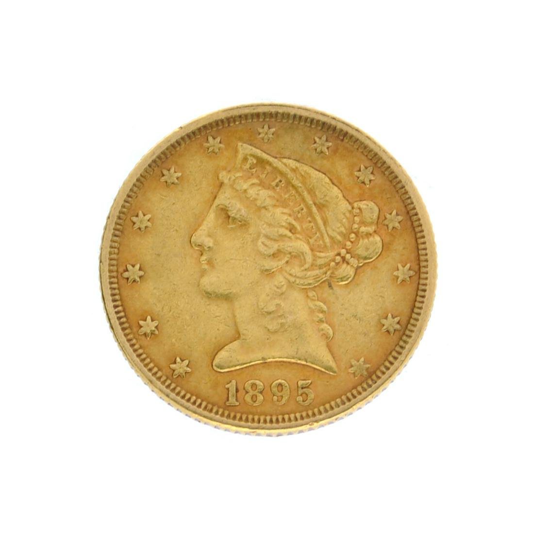 Extremely Rare 1895 $5 U.S. Liberty Head Gold Coin