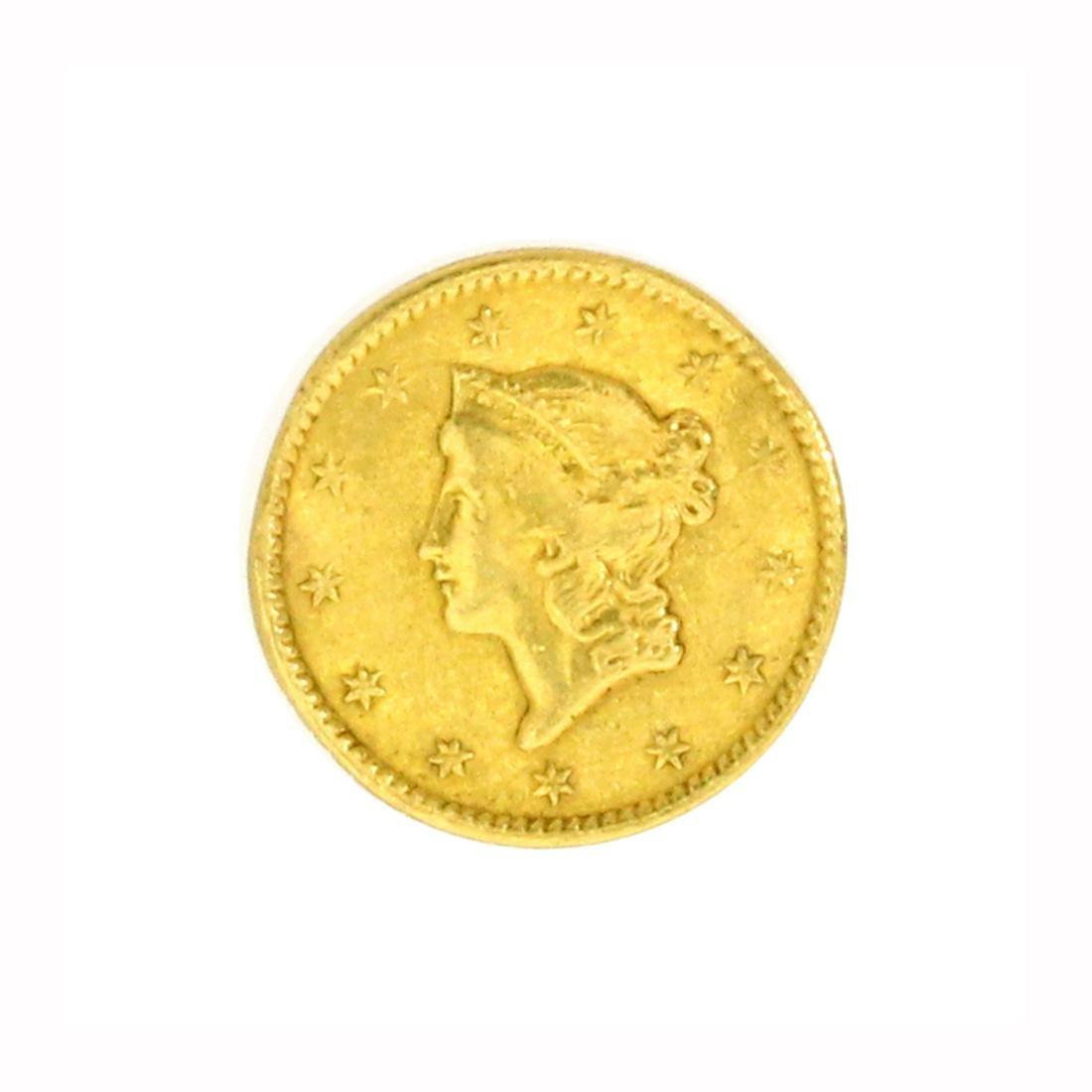 Rare 1849 $1 U.S. Liberty Head Gold Coin