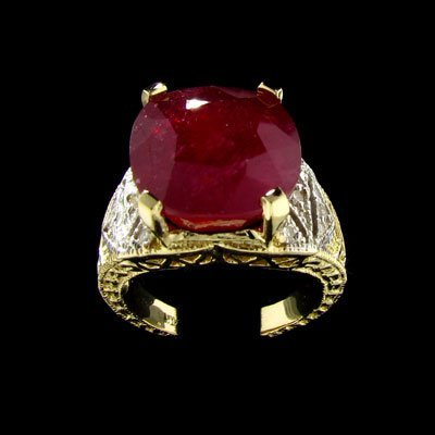 2700: APP: $43.4k 14 kt. Gold, 10.88CT Ruby and Diamond