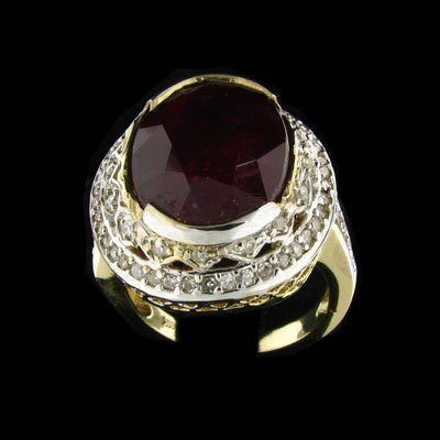 2730: APP: $43.8k 14 kt. Gold, 9.53CT Ruby and Diamond