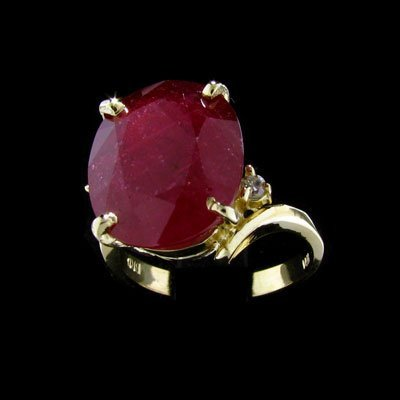 2740: APP: $32.4k 14 kt. Gold, 10.20CT Ruby and Diamond