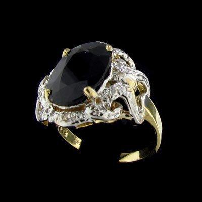 15: APP: $6.6k 14 kt. Gold, 5.34CT Sapphire and Diamond