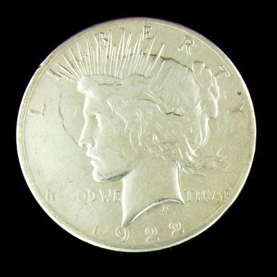21: 1922 Peace Type Silver Dollar Coin - Investment Pot