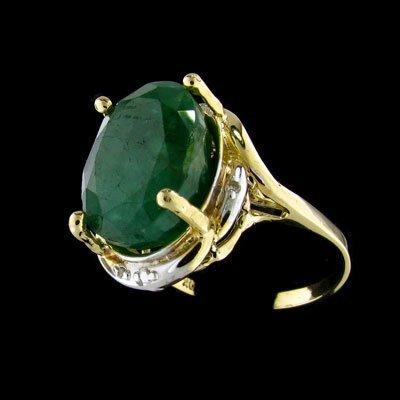 27: APP: $22.9k 14 kt. Gold, 7.05CT Emerald and Diamond