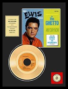 29: ELVIS PRESLEY ''In The Ghetto'' Gold Record - Fan F
