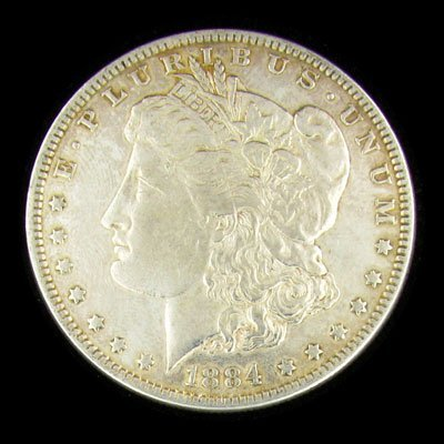 37: 1884 Morgan Type Silver Dollar Coin - Investment Po