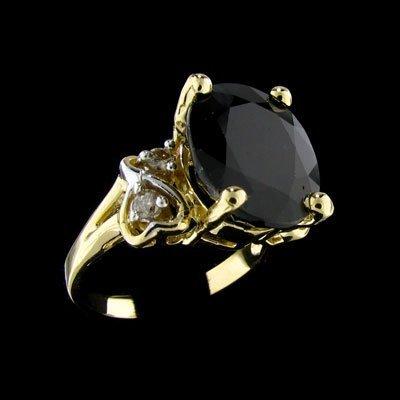 53: APP: $13.7k 14 kt. Gold, 7.81CT Sapphire and Diamon
