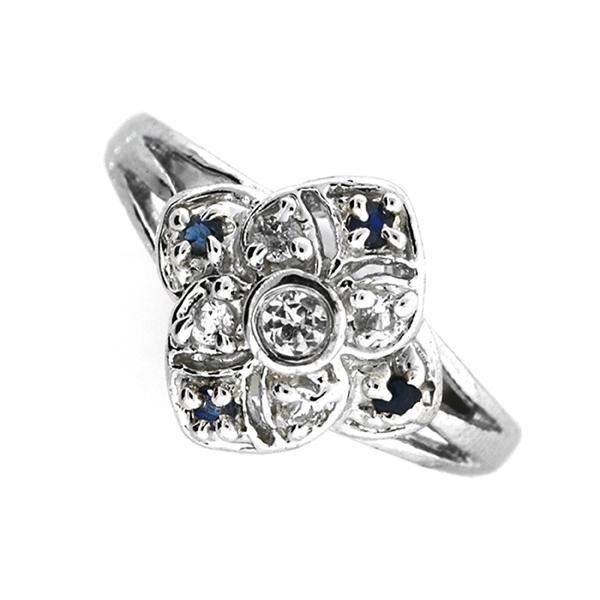 Designer Sebastian 0.02CT Round Cut Blue Sapphire And