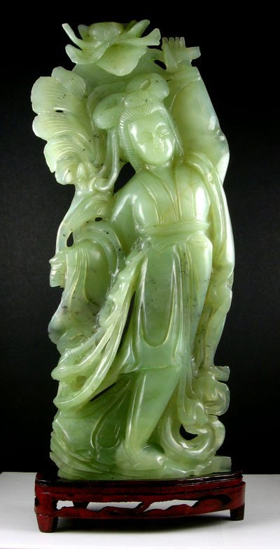 3: Rare Jade Hand Carved Translucent Green - Collect