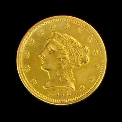 5: 1879 $2.5 US Liberty Head Type Gold Coin - Investmen
