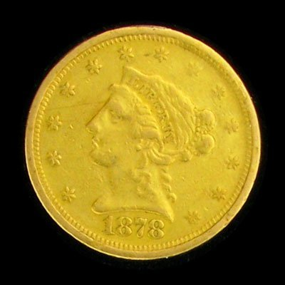 9: 1878-S $2.5 US Liberty Head Type Gold Coin - Investm