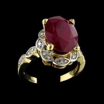 15: APP: $34.2k 14 kt. Gold, 6.50CT Ruby and 0.12CT Dia