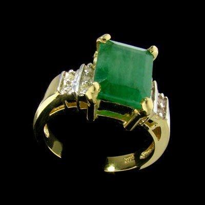39: APP: $8.2k 14 kt. Gold, 5.12CT Emerald and Diamond