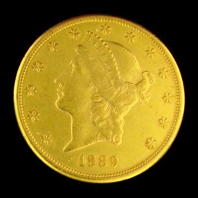 219: 1889-S $20 US Liberty Head Type Gold Coin - Invest