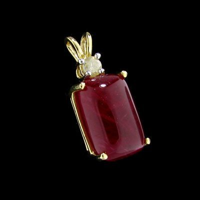 304: APP: $20.6k 14 kt. Gold, 13.50CT Ruby and Diamond