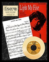 320: THE DOORS ''Light My Fire'' Gold Record with lyric