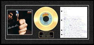 325: DON MCLEAN ''American Pie'' Signed Gold Record-Col